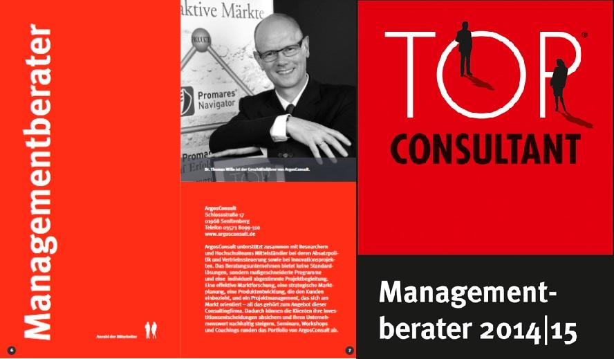Dr. Thomas Wille - Geschäftsführer von ArgosConsult im Guide der TOP CONSULTANT